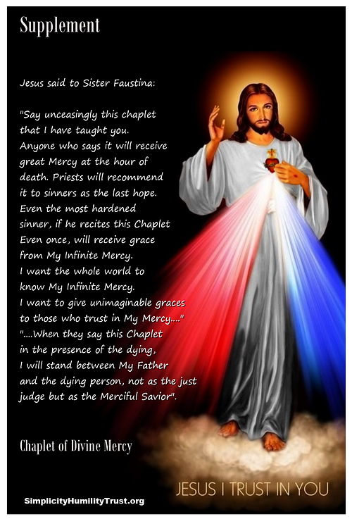 about the divine mercy chaplet novena and its promises