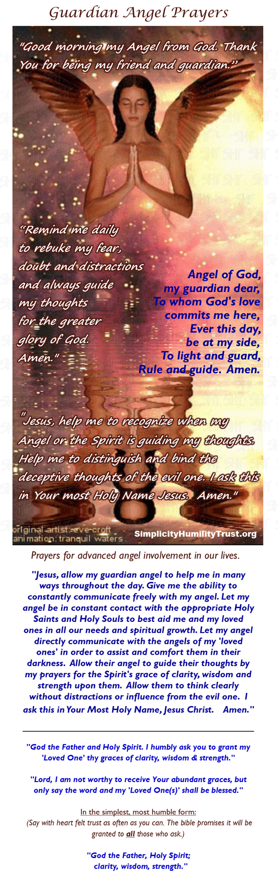 Angel prayers for guidance in marriage