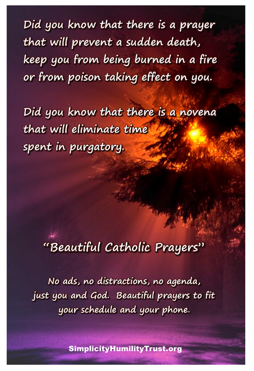 Did you know that there is a prayer that will prevent a sudden death, keep you from being burned in a fire or from poison taking effect on you.