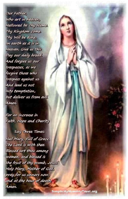 Interactive Holy Rosary - Sorrowful - Simplicity Humility Trust